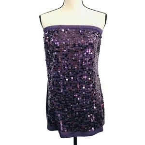 Maurices Purple Sequin Tube Top